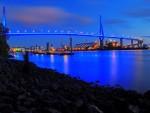 Köhlbrandbrücke zum blue Port in Hamburg